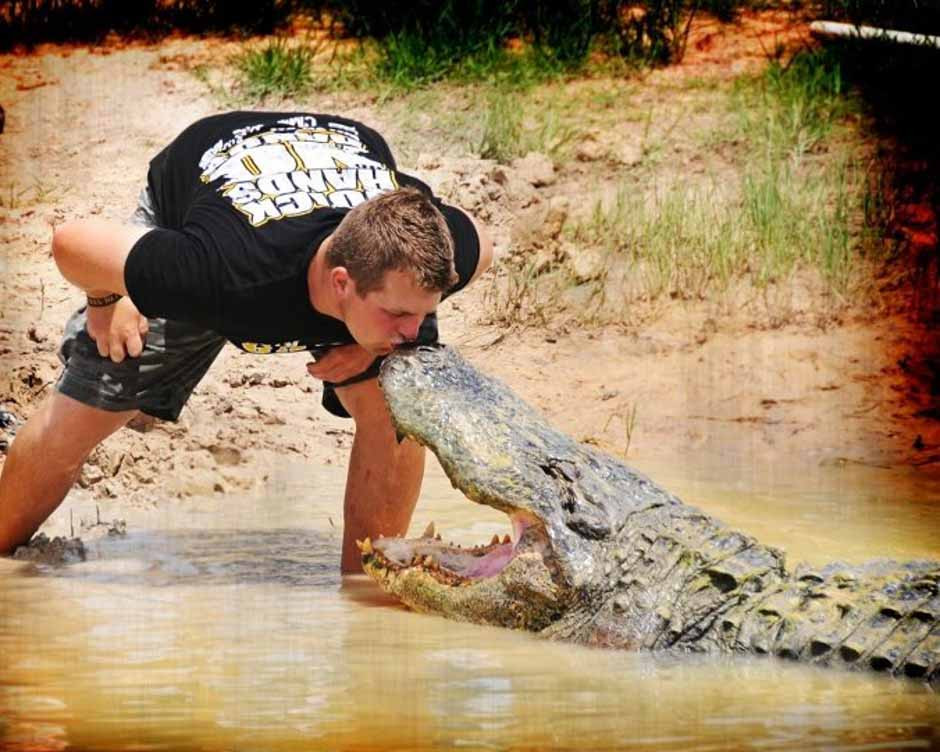 Zach with an alligator
