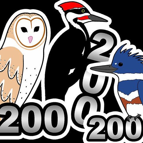 Birding Stickers - 200's