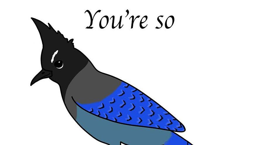 Valentine's Day Card - Steller's Jay