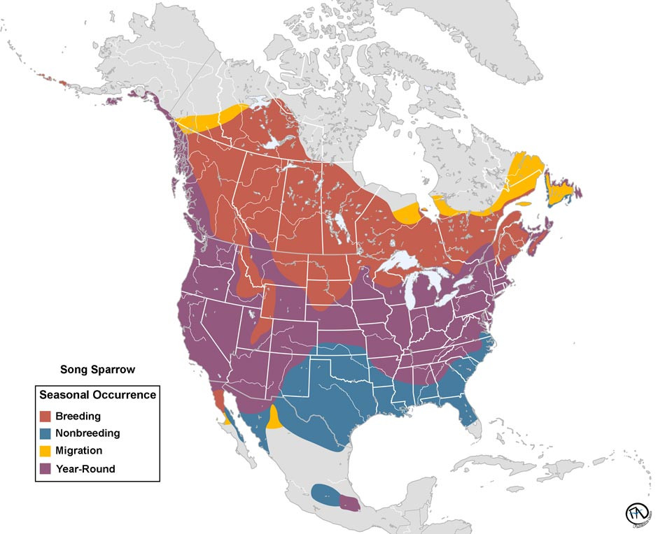 Song Sparrow Range Map