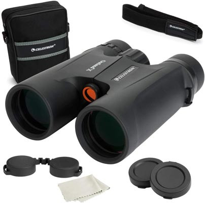 Our recommended starter binocular - Celestron Outland X 8x42