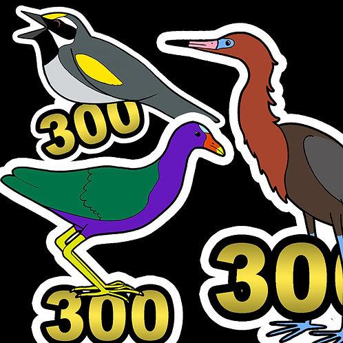 Birding Stickers - 300's