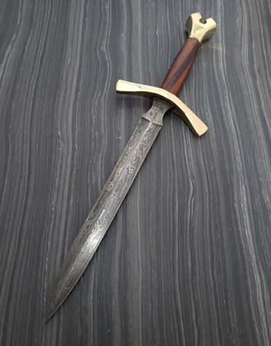 Cocobolo Damascus Hunting Dagger with sheath