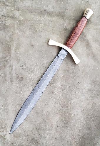 Cocobolo Damascus Baron Dagger
