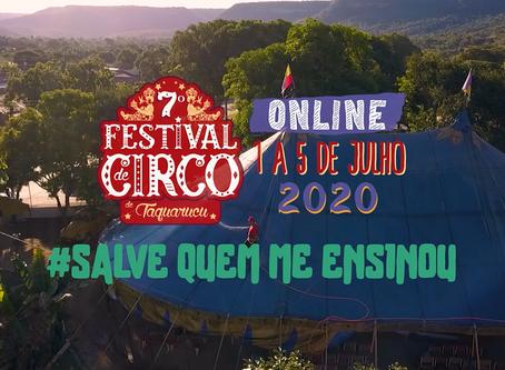 O CIRCO VAI À SUA CASA: Festival de Circo de Taquaruçu inicia edição histórica em meio à pandemia
