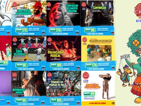 Festival de Circo de Taquaruçu oferece vasta programação de oficinas a partir de 1° de julho.