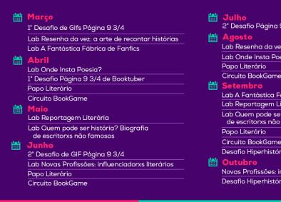 Desafio de Gifs Literários abre temporada 2019 da revista Página 9 3/4