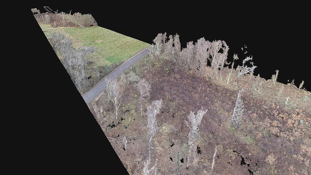 Photogrammetrie Punktwolke Luftbild. Vermessung mit Drohne in Rheinland-Pfalz, Hessen, Baden-Württemberg