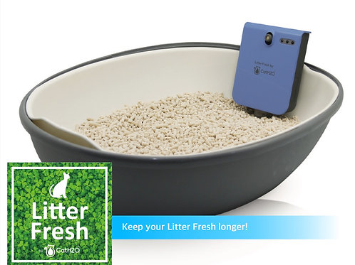 Litter Fresh by Cat H2O: Dispensing kit & 1 bottle of unscented Litter Freshener