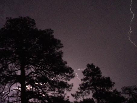 Rain and a Light Show!