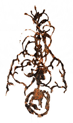 copper leaf doll