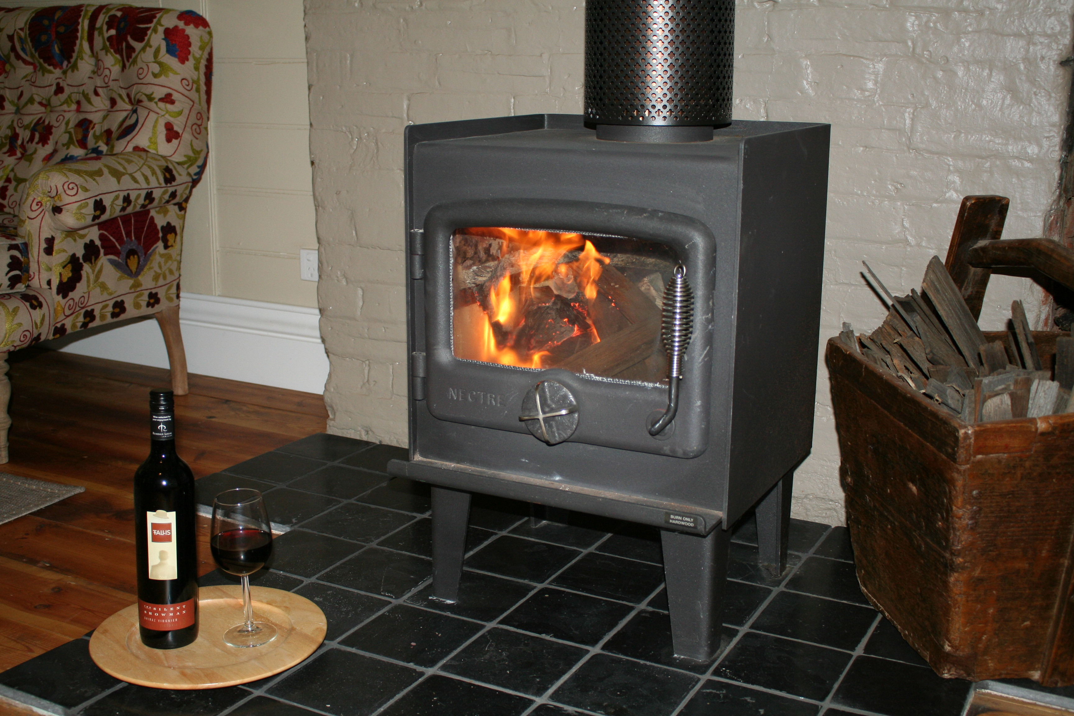 Enjoy the warmth of a log fire