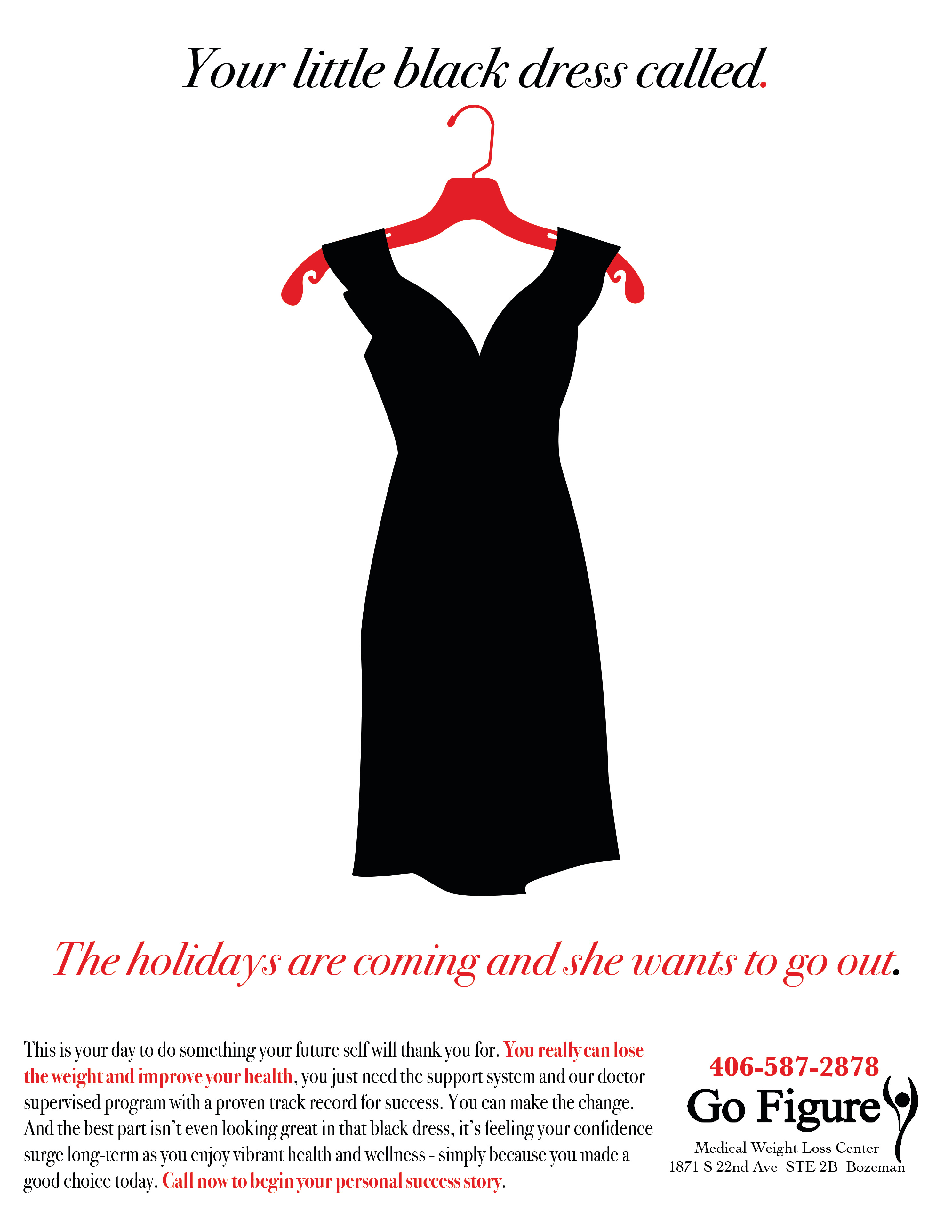 Go Figure Holiday Dress Ad