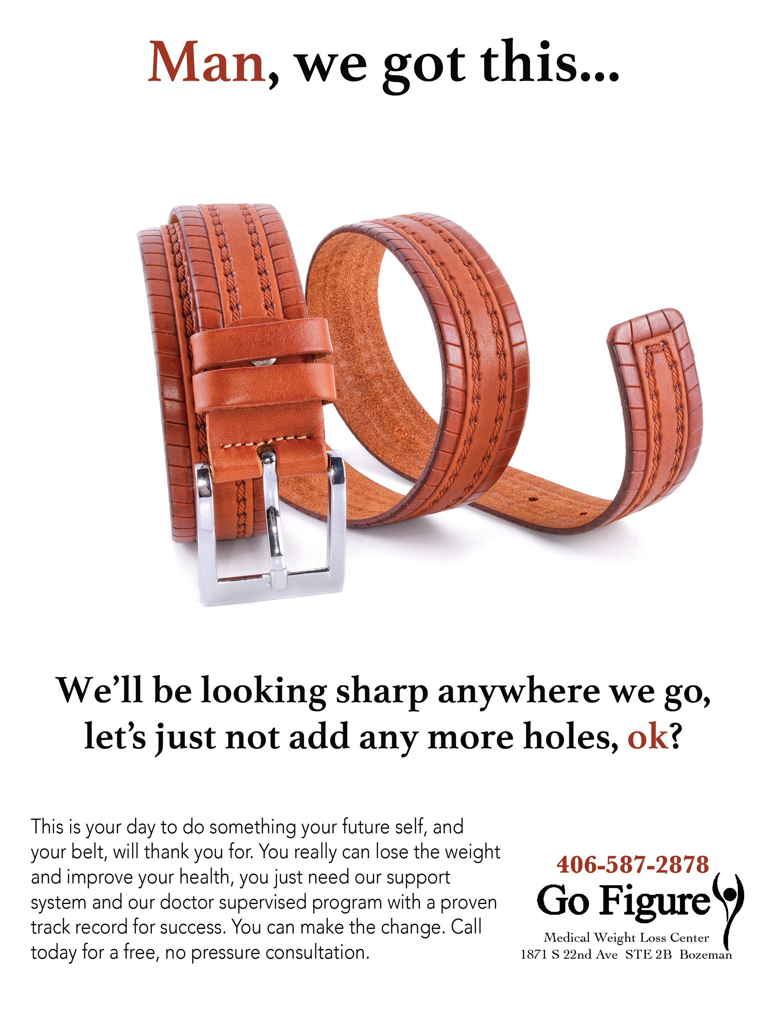 Man's Belt Ad