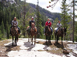 Horsebackriding near Yellowstone National Park