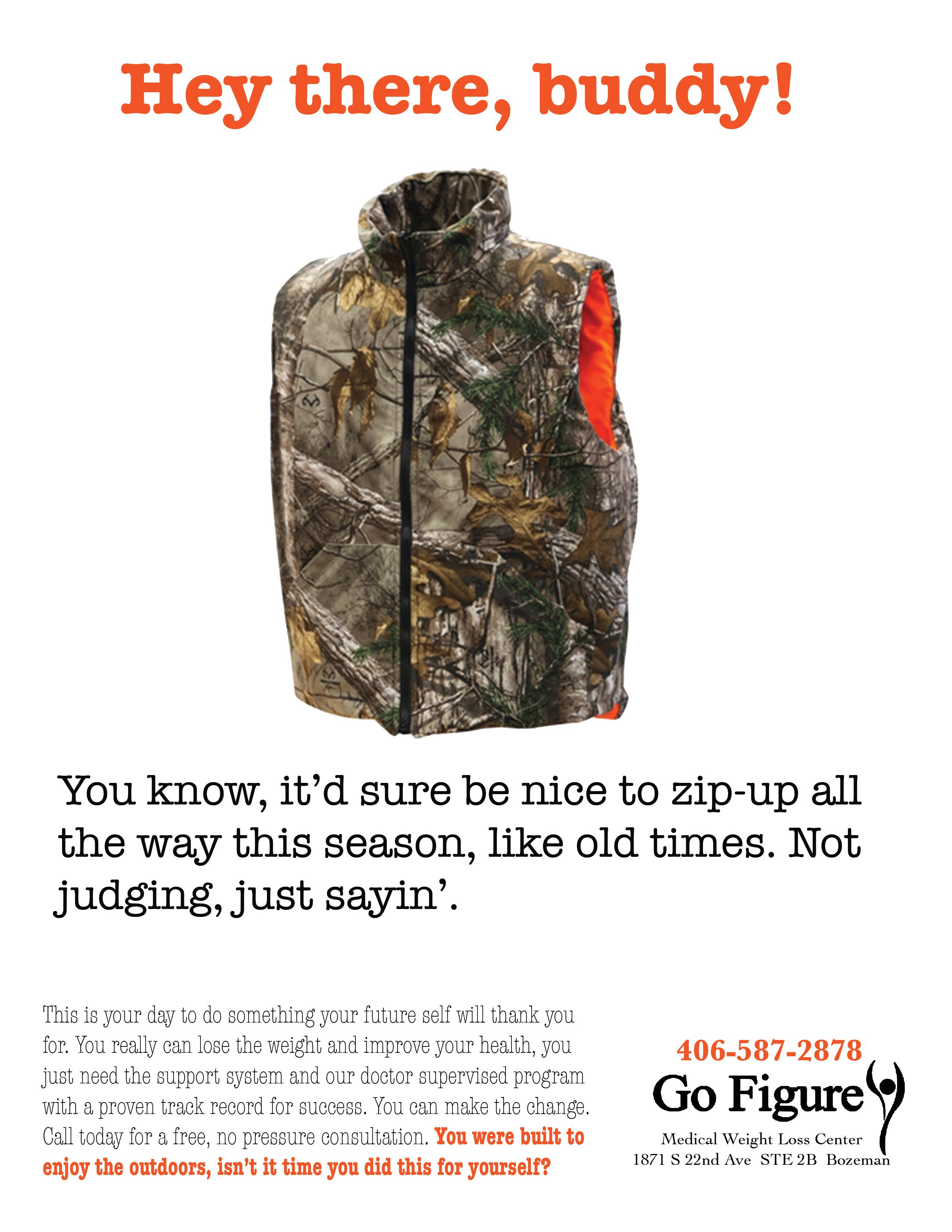 Man's Hunting Vest Ad