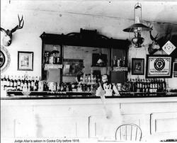 1918 - Judge Jack Allen at the luxurious Cosmopolitan Saloon