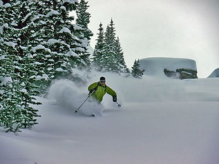 Backcountry Skiing Remote Montana