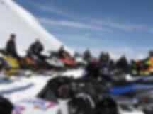 Backcountry Snowmobile near Yellowstone National Park