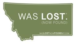 Was Lost Now Found Decal Sticker