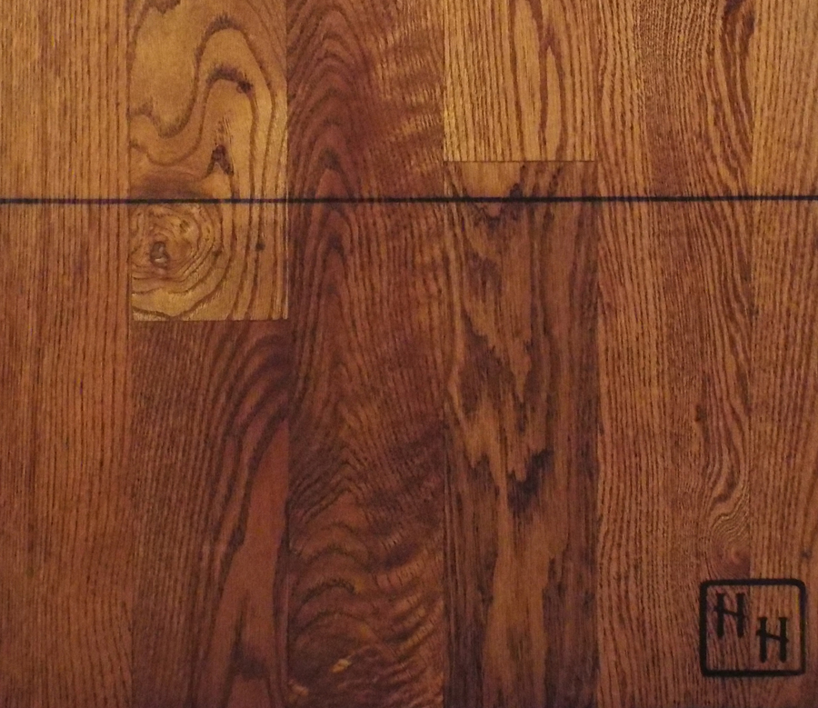 Red Oak - #1 - Brown Stains