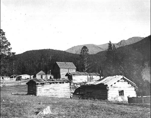 1900's - Early buildings nestled below Ram's Pasture