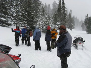 Snowmobiling In Silver Gate Area