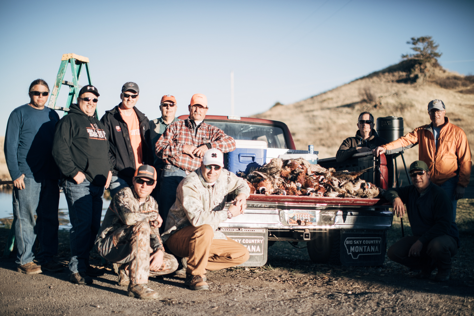 Group in Corporate Pheasant Event