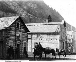 1900's - Cooke City street scene nestled under Republic Mountain