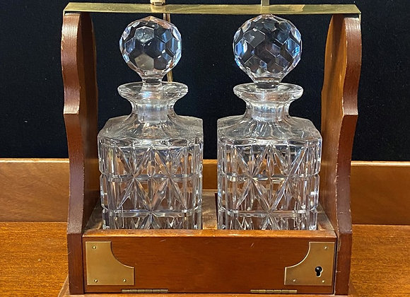 Early 20th Century Two Bottle Tantalus