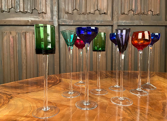 Jewel Coloured Liqueur Glasses