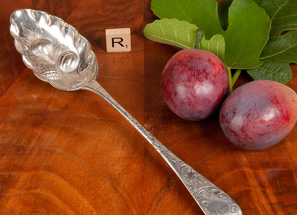 Victorian Silver Plated Berry Spoon
