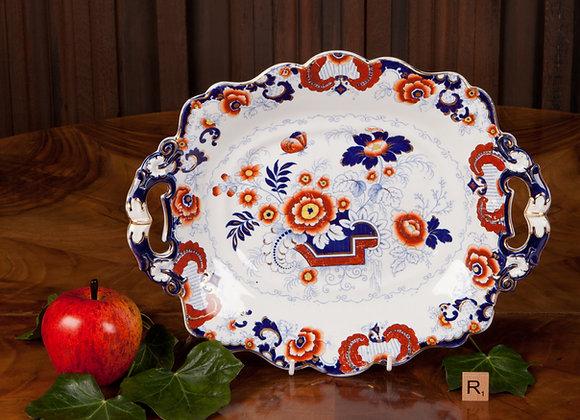 Victorian Ironstone Serving Plate in the Imari Design