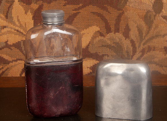 Late Victorian Pewter Hip Flask