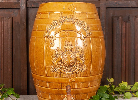 Large Victorian Glazed barrel