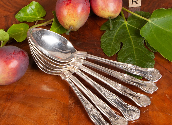 Six Late Victorian Dessert Spoons