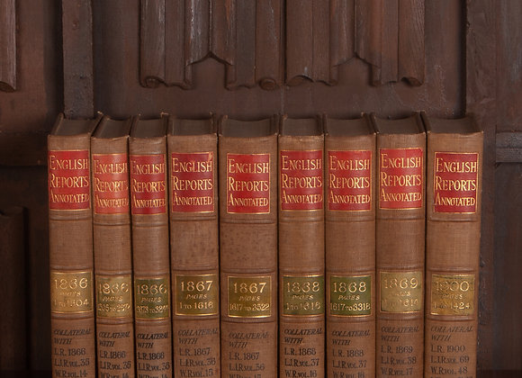 9 Victorian Volumes of English Reports Annotated