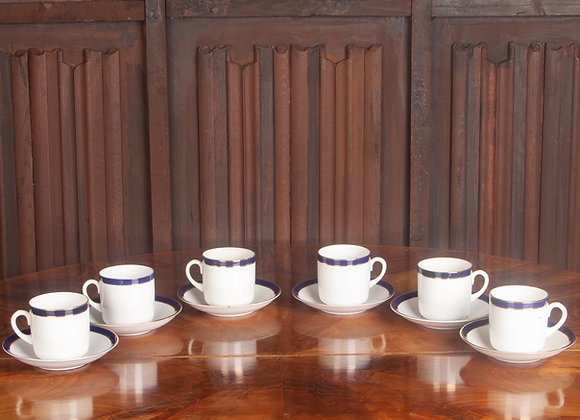 6 Early 20th Century Coffee Cups and Saucers