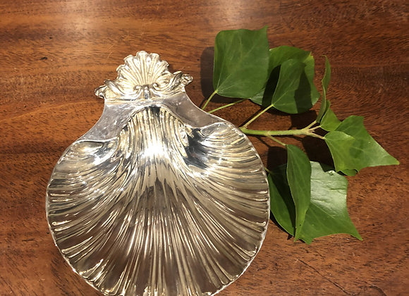 Silver Plated Shell Dish