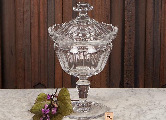 Large Cut Glass Lidded Jar
