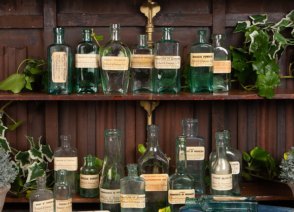 A Group of 18 Victorian Pharmacy / Chemist Bottles