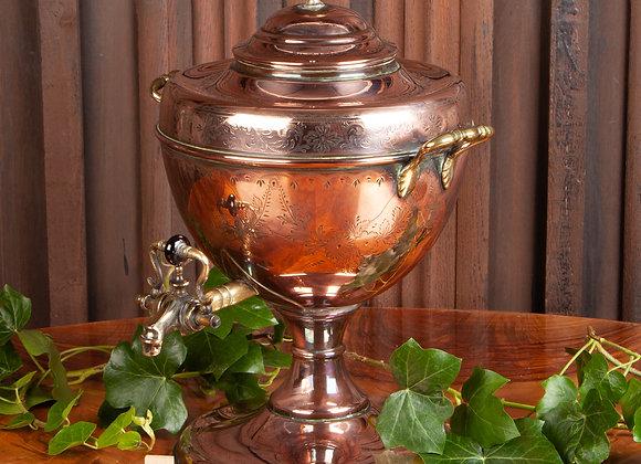 An Early Victorian Copper Samovar