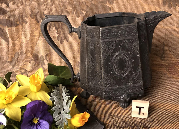 Late Victorian Pewter Jug