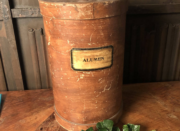 Large Wooden Pharmacy Container