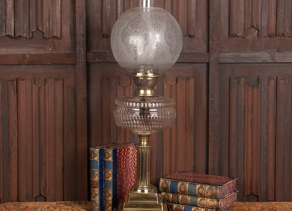 Large Victorian Oil Lamp