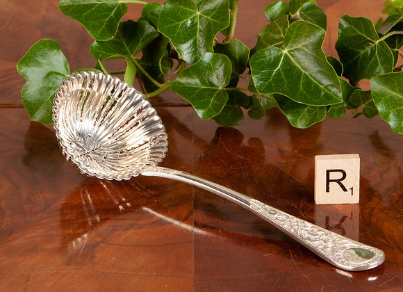 Victorian Silver Plated Sugar Sifter Spoon