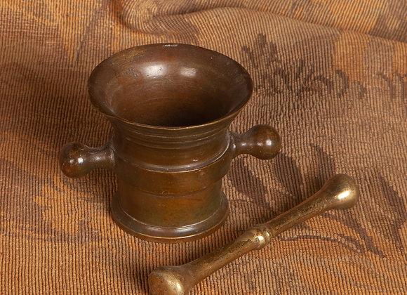 Small Georgian  Bronze Pestle and Mortar