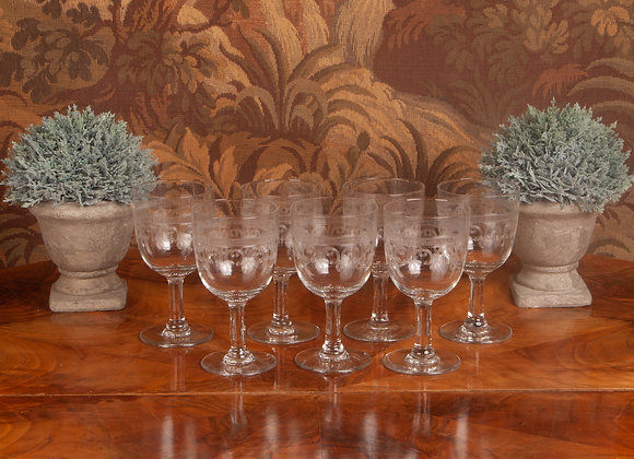 Victorian Large Glass Goblet - 7 Available