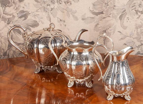 Victorian Silver Plated Tea Service