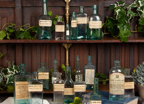A Group of 17 Victorian Pharmacy / Chemist Bottles